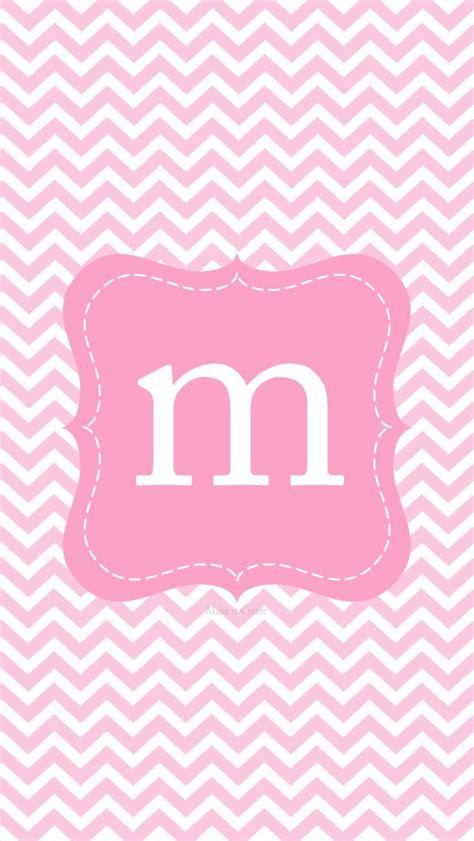 m iphone wallpaper m monogram pink iphone wall iphone wallpapers themes pink monograms and m