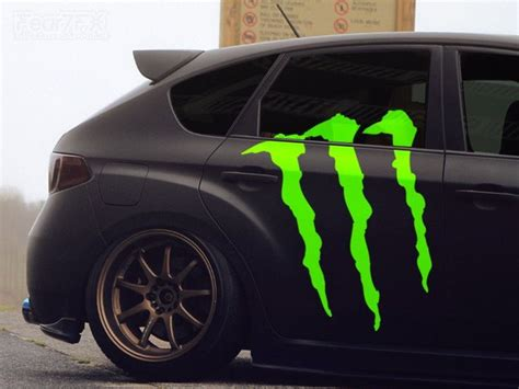 Monster Cars Aufkleber by 1x Monster Energy Car Claw Vinyl Transfer Decal Fear7fx