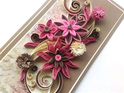 Handmade Quilling Greeting Cards - beautiful handmade card card quilling card greeting
