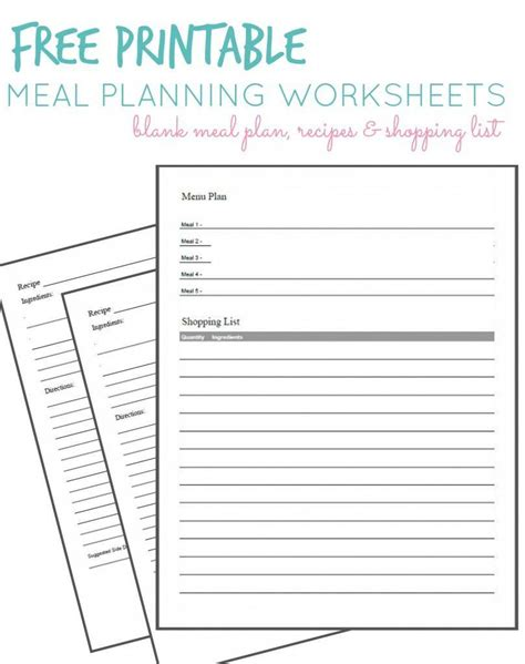 printable meal planning sheets worksheet meal plan worksheet grass fedjp worksheet