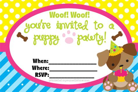 Best Template Collection Puppy Invitation Template