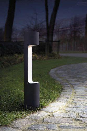 garden bollard light contemporary metal halogen
