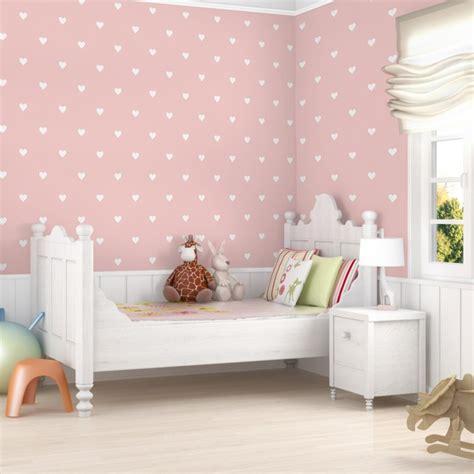 tapete kinderzimmer rosa mustertapete f 252 r kinderzimmer no yk59 wei 223 e herzen auf