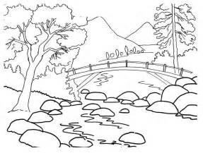 Galerry nature scenes coloring pages