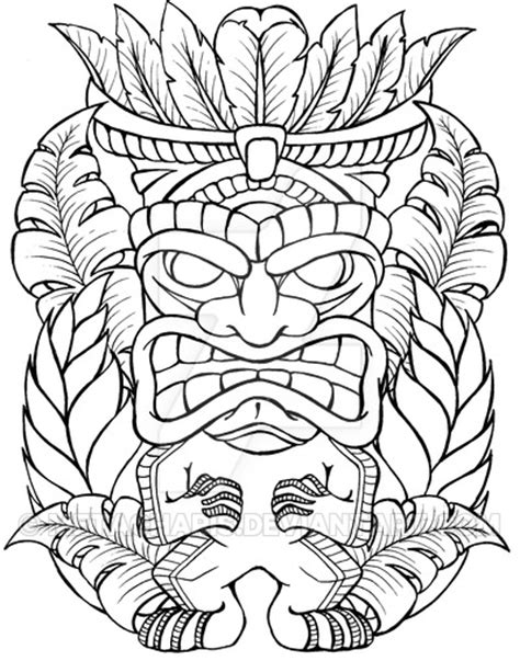 tiki man tattoo by metacharis on deviantart