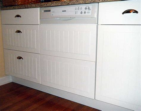 custom dishwasher panel from cabinet fronts