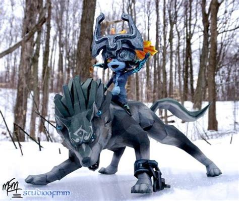 And Wolf Twilight Princess D0291 papermau the legend of twilight princess wolf link midna paper models by studio of mm