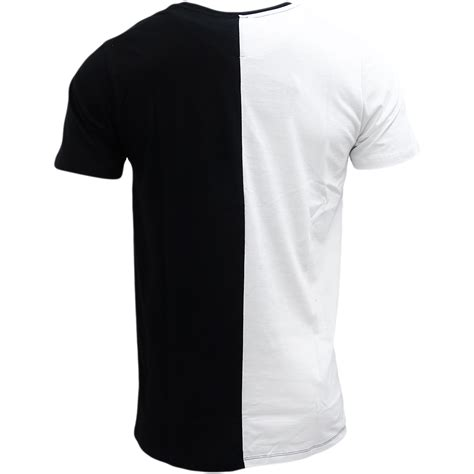 t shirt layout white hype white black half white half black split t shirt