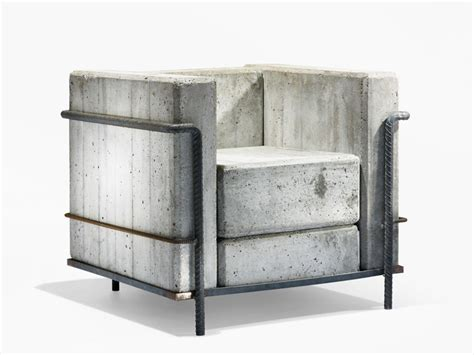 Low Cost Housing Design by Contemporary Concrete Furniture