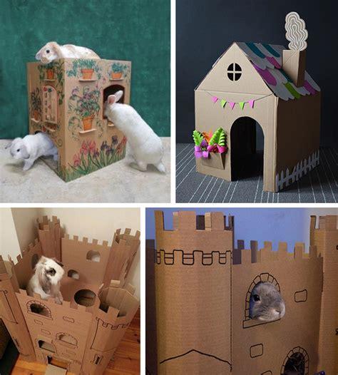 casa per conigli casette per conigli e roditori in cartone e legno