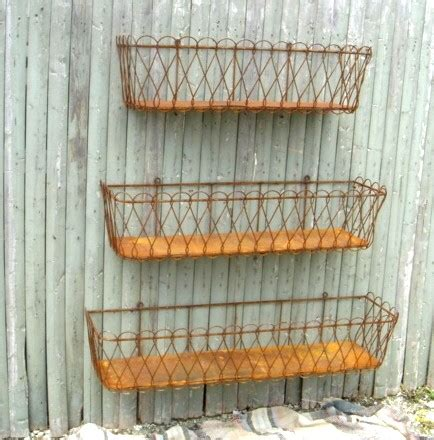 Wire Window Box Planter by Kate Presents Outdoor Furniture For Your Barnwood Modern