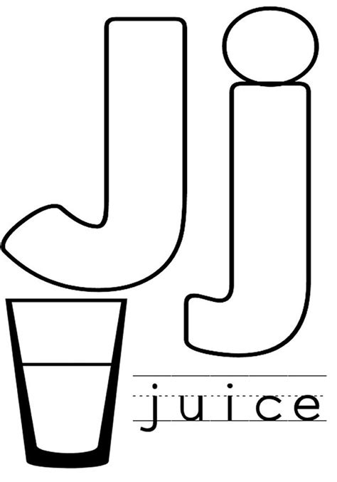 coloring pages letter j free letter j coloring pages for preschool preschool crafts