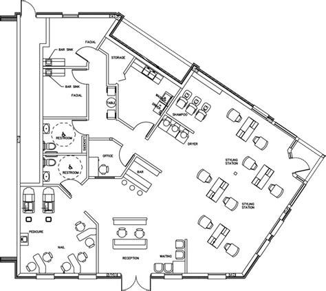 salon design salon floor plans salon layouts beauty salon floor plan design layout 2232 square foot