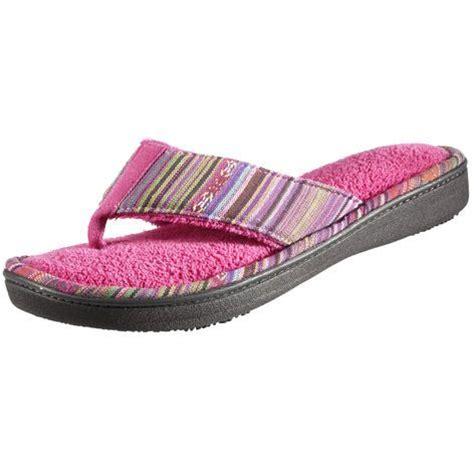 silver isotoner slippers isotoner signature s cabanas stripe memory foam