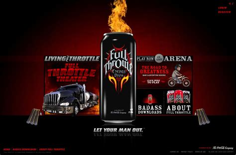 energy drink throttle advergame energy drink en manque de vitamines