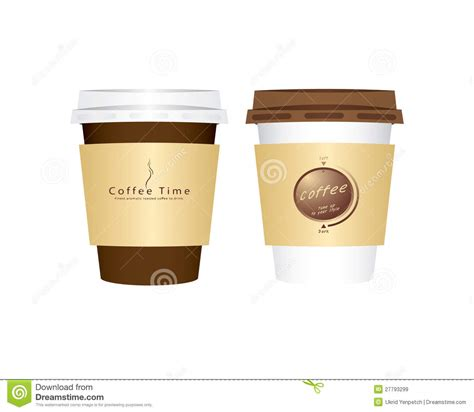 Vector 2 Paper Coffee Cup Royalty Free Stock Images   Image: 27793299