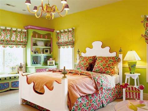 girls bedroom yellow eye catching paint colors for the bedroom