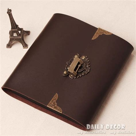 Handmade Leather Photo Album - handmade brown pu leather photo album photo album