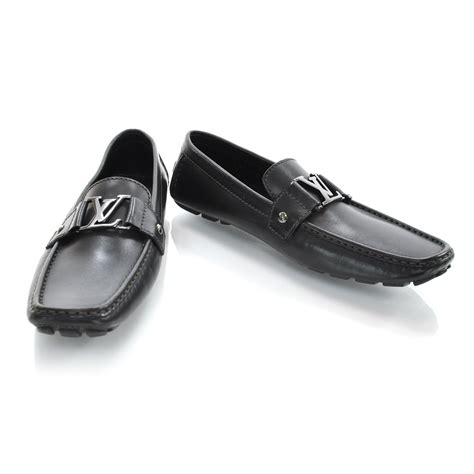 louis loafers louis vuitton suede monte carlo loafers 8 5 black 29024