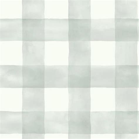 watercolor check pattern sage and cream large checks wallpaper wallcovering