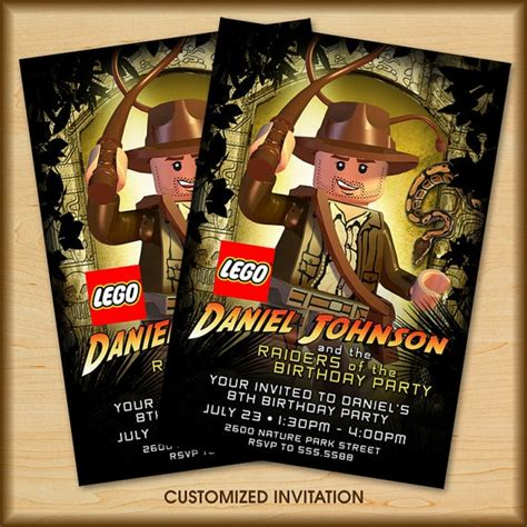 printable indiana jones birthday invitations 13 best images about lego party on pinterest birthday