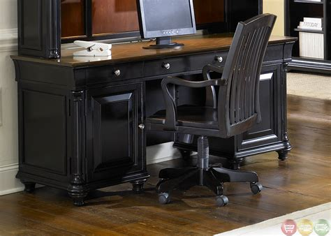 st ives traditional executive home office furniture desk set
