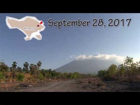 detiknews gunung agung hari ini bali mt agung today september 28 2017 gunung agung