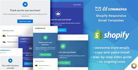 Lil Commerce Shopify Responsive Email Templates Theme For U Shopify Email Templates