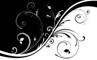 Designs In Black And White Black And White Floral Design Cliparts Co