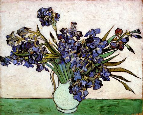 Gogh Vase With Irises by Vase With Irises 1890 Vincent Gogh Wikiart Org
