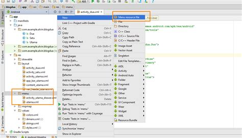 abc action menu layout xml membuat toolbar dan menu di action bar android studio