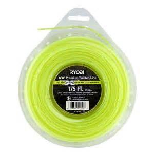 home depot trimmer line ryobi 0 080 in x 175 ft premium twisted corded and