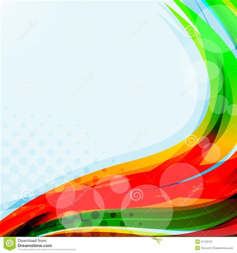 bright blue background abstract colorful illustration