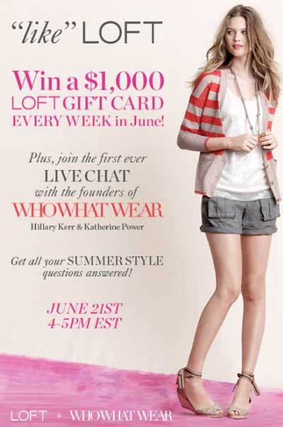 Where Can I Buy Loft Gift Cards - loft summer wardrobe sweepstakes whowhatwear com live chat