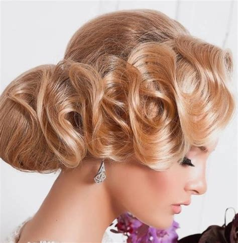 Finger Wave Updo Hairstyles by 15 Chic Wedding Hair Updos For Brides
