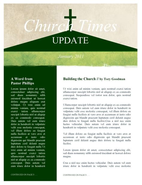 beautiful edit ready church newsletters and newsletter