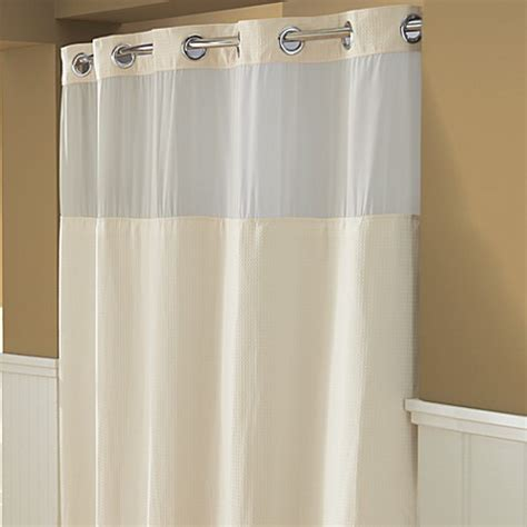 cream shower curtain buy hookless 174 waffle 71 inch x 74 inch fabric shower