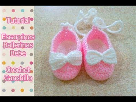 como hacer zapatitos tejidos para bebes youtube diy como tejer escarpines ballerinas zapatitos para bebe