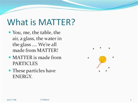 what is matter science esl matter particle theory