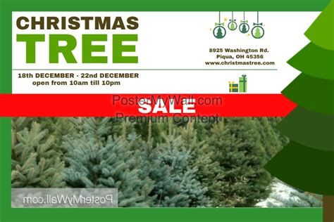 christmas trees for sales flyers tree sale template postermywall
