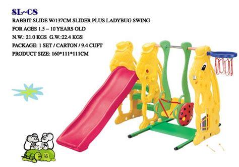 Mainan Anak Sticker 3d Kancing Murah perosotan ayunan plastik kelinci mainan kayu