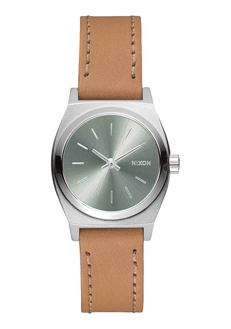 small time teller leather s watches nixon