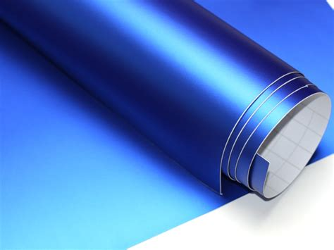 Folie Chrom Matt Blau by K 246 Nigsblau Chrom Matt Metallic 100cm X 152cm Blasenfrei