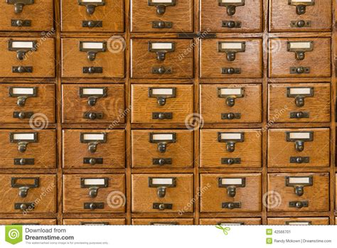Library Index Card Files Stock Photo   Image: 42566701
