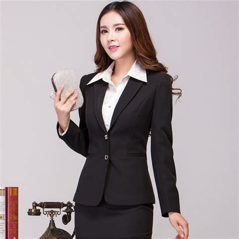 2015 women working suits new 2015 fall winter formal office ladies business women