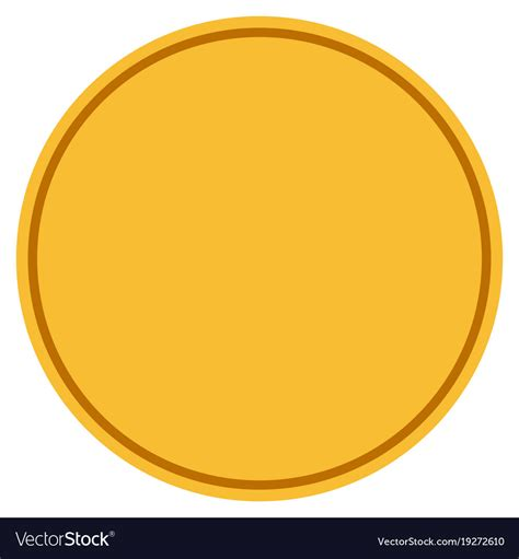 coin design template template gold coin royalty free vector image