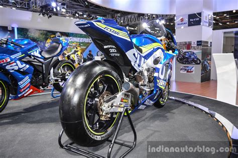 Ktm At Auto Expo 2016 by 2016 Suzuki Gsx Rr Motogp Bike Rear Quarter At Auto Expo 2016
