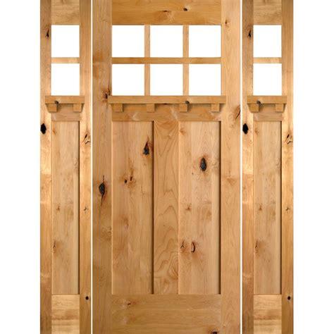 krosswood doors 18 in x 80 in knotty alder 2 panel krosswood doors 64 in x 80 in craftsman knotty alder 3