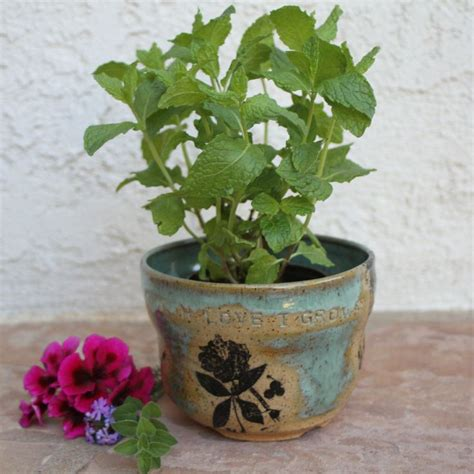 Handmade Garden Pots - handmade planter ceramic flower pot indoor outdoor herb