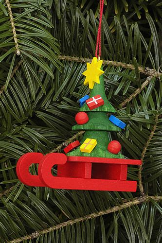 Bahum 10 Inch tree ornament sleigh with christbaum 5 2 215 6 4 cm 2 0 215 2